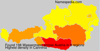 Surname Wassermann in Austria