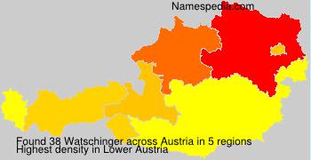 Surname Watschinger in Austria