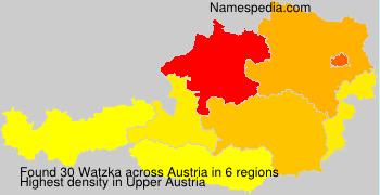 Surname Watzka in Austria