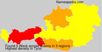 Surname Weck in Austria