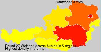 Surname Weichart in Austria