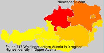 Familiennamen Weidinger - Austria