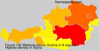 Surname Weiland in Austria