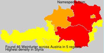 Familiennamen Weinfurter - Austria