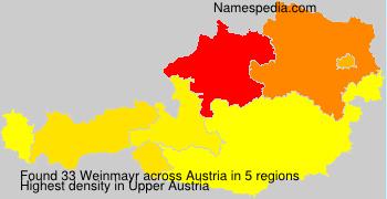 Surname Weinmayr in Austria