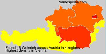 Surname Weinrich in Austria