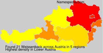 Surname Weissenback in Austria