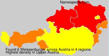 Familiennamen Weissenburger - Austria