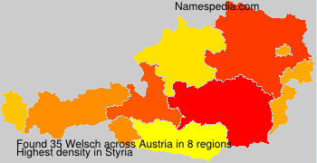 Familiennamen Welsch - Austria