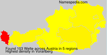 Surname Welte in Austria