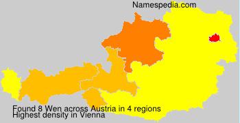 Familiennamen Wen - Austria