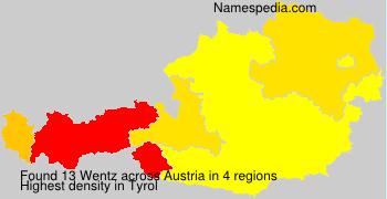 Surname Wentz in Austria