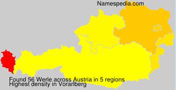 Surname Werle in Austria