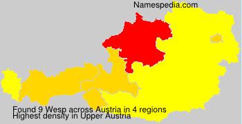 Familiennamen Wesp - Austria