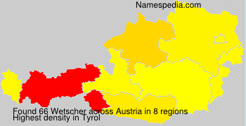 Surname Wetscher in Austria