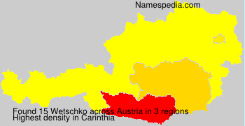 Surname Wetschko in Austria