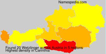 Surname Wetzlinger in Austria