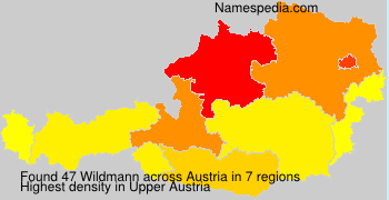 Surname Wildmann in Austria