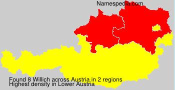Surname Willich in Austria