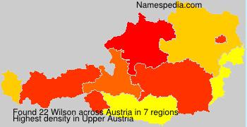 Surname Wilson in Austria