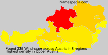 Surname Windhager in Austria