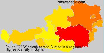 Surname Windisch in Austria
