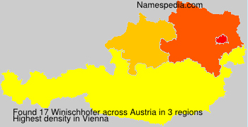 Surname Winischhofer in Austria