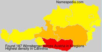 Surname Wirnsberger in Austria
