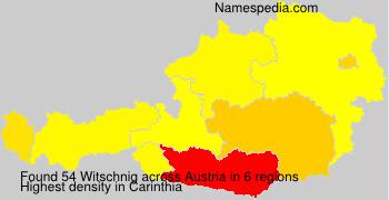 Familiennamen Witschnig - Austria