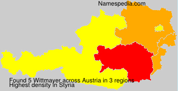 Surname Wittmayer in Austria