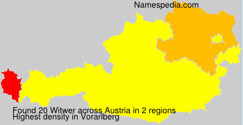 Surname Witwer in Austria