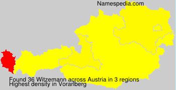 Familiennamen Witzemann - Austria