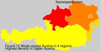 Surname Woda in Austria