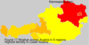 Surname Wodnar in Austria