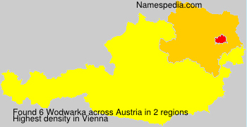 Surname Wodwarka in Austria