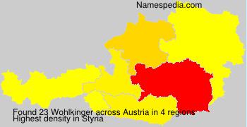 Familiennamen Wohlkinger - Austria