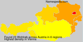 Surname Wohlrab in Austria