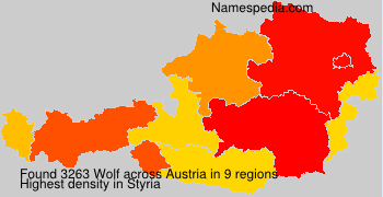 Familiennamen Wolf - Austria
