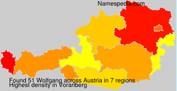 Surname Wolfgang in Austria