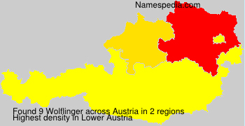 Familiennamen Wolflinger - Austria