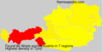 Surname Worle in Austria