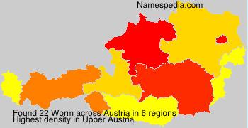 Surname Worm in Austria