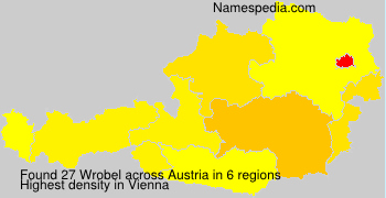 Surname Wrobel in Austria