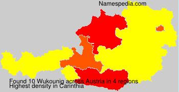 Familiennamen Wukounig - Austria