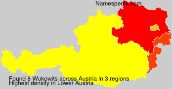Surname Wukowits in Austria