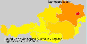 Surname Yavuz in Austria