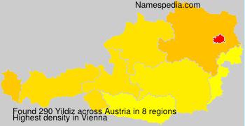 Surname Yildiz in Austria