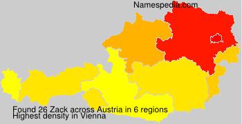 Surname Zack in Austria