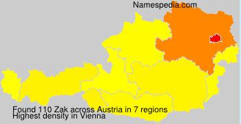 Familiennamen Zak - Austria
