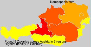 Familiennamen Zakarias - Austria